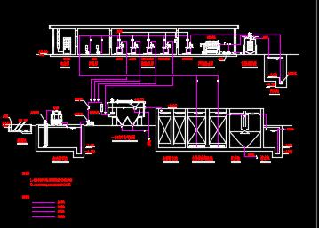 800吨印染废水工程处理图纸