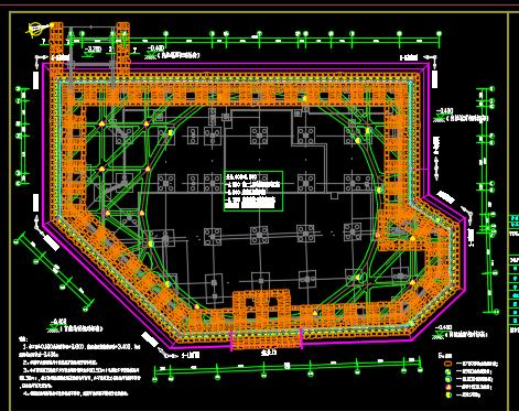 10米深基坑支护施工图