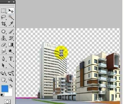 ps建筑透视效果制作