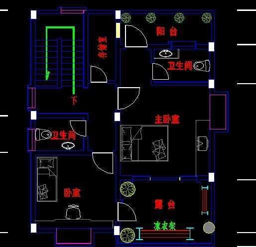 农村住宅两层简式房屋图纸