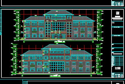 四层办公楼建筑结构设计图纸