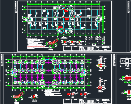 三层办公楼结构施工图纸