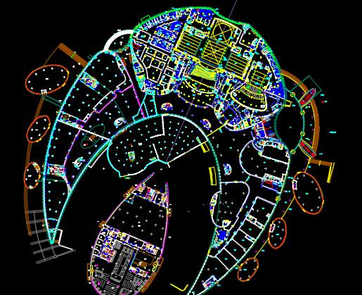 某文化艺术中心建筑施工组织设计方案(附cad图纸)