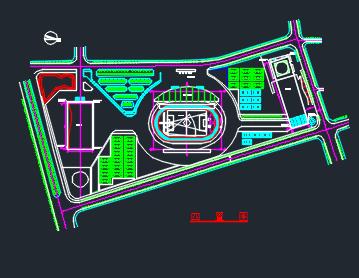框架结构体育中心澳门新濠天地施工组织设计(含图纸)
