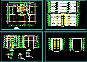 藏式风格居民住宅楼建筑施工图