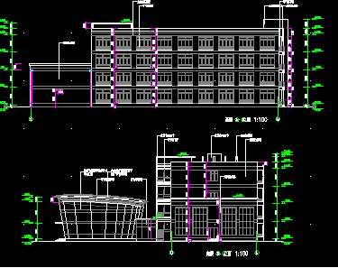 四层框架商务楼毕业设计(含图纸)