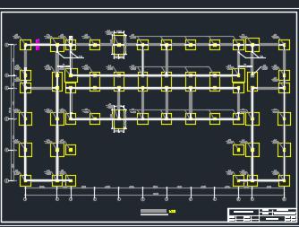 某四层框架结构教学楼毕业设计(图纸、计算书)