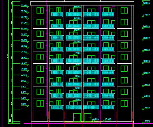 十层框剪方型住宅楼毕业设计(含图纸、计算书)