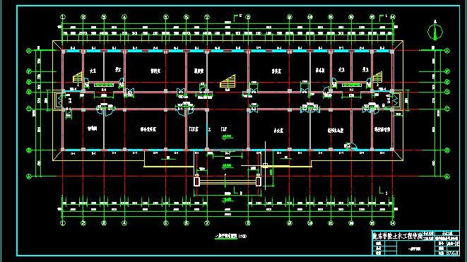 四层框架结构办公楼建筑结构设计图纸