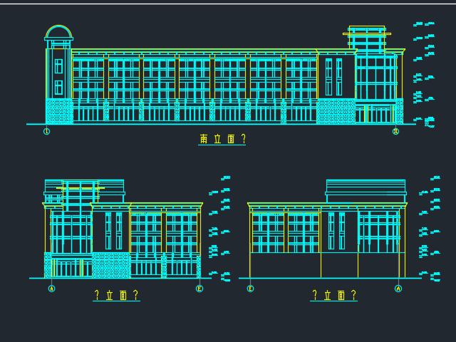2677平米三层框架结构办公楼工程毕业设计(含图纸、计算书)
