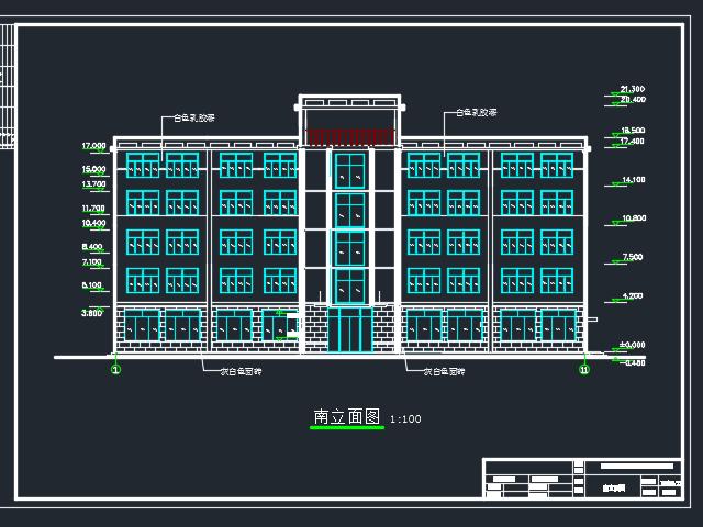 3156平米五层框架结构办公楼建筑毕业设计