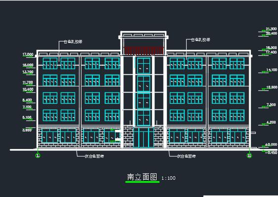 3156平米五层框架结构办公楼毕业设计(含图纸)