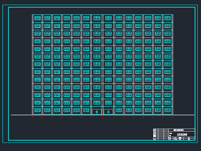 十三层框剪结构旅馆毕业设计