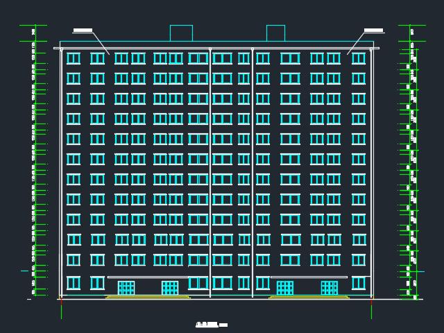 7085平米十二层框剪结构住宅楼毕业设计(含开题报告、图纸、任务书、工作日志)