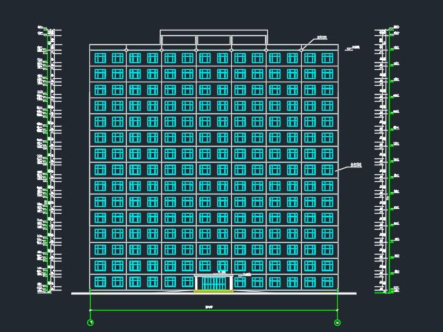 11155.91平米十五层框剪结构办公楼毕业设计(含图纸)