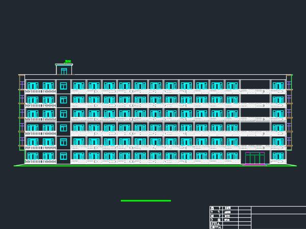 六层宿舍楼建筑毕业设计(含水电)