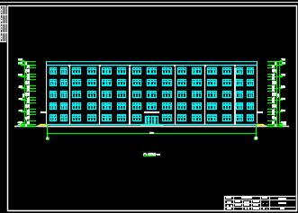 4888平米五层框架结构办公楼毕业设计(含图纸)