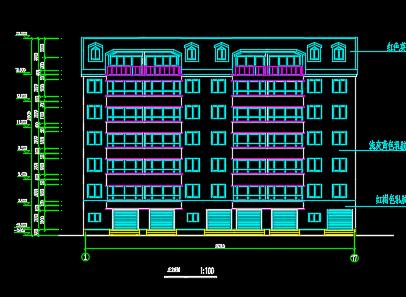 住宅小区住宅楼建筑施工图纸