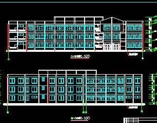三层框架教学楼全套毕业设计(计算书、施组、图纸)