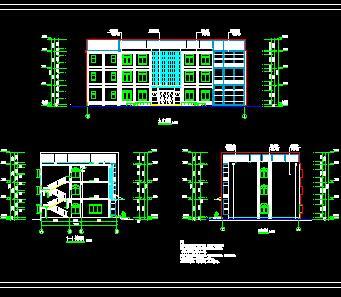 三层框架办公楼毕业设计计算书及图纸