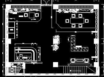 200平方茶楼平面设计图