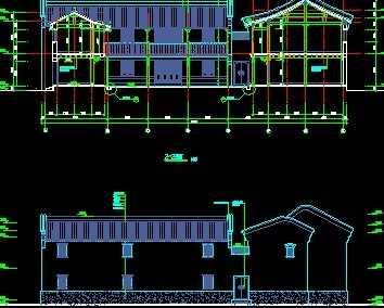 仿古建筑亭廊设计图