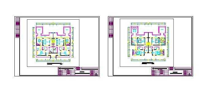 复式别墅建筑平面图