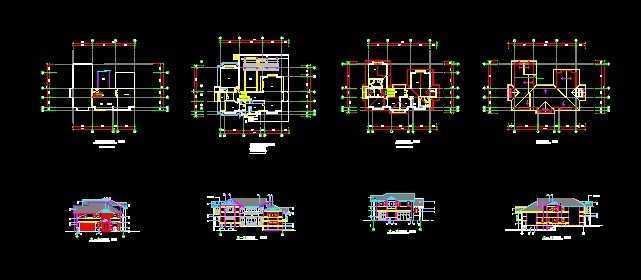 兩層日式別墅建筑設計圖紙
