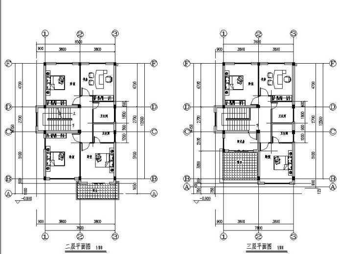 欧式风格别墅设计图纸