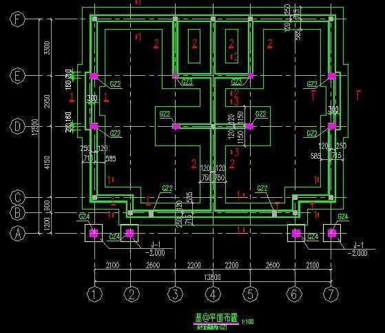 三层砖混别墅图纸