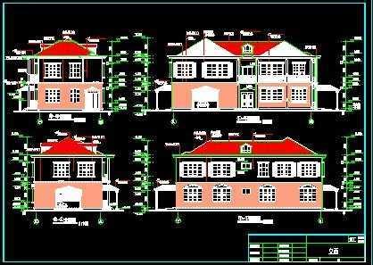 别墅施工图1免费下载 别墅图纸