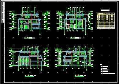 三层别墅平面图设计