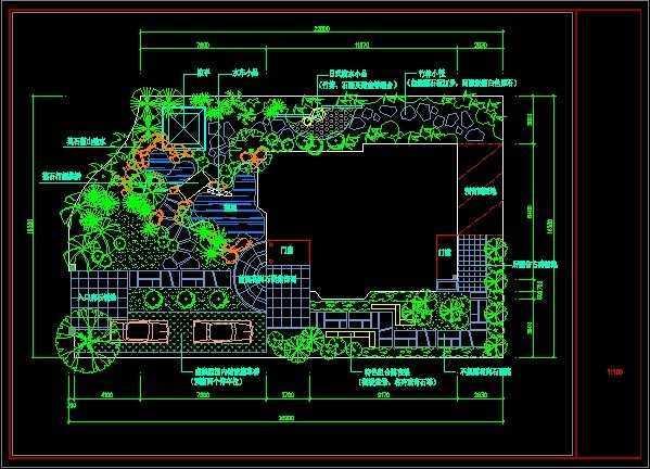 現代別墅庭院設計平面圖