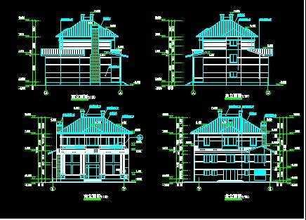 春天花园别墅建筑结构图