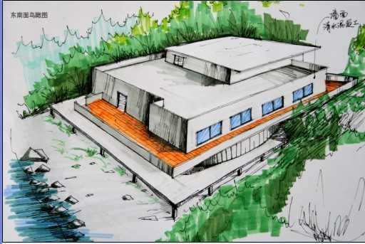 别墅设计方案图及手绘效果图