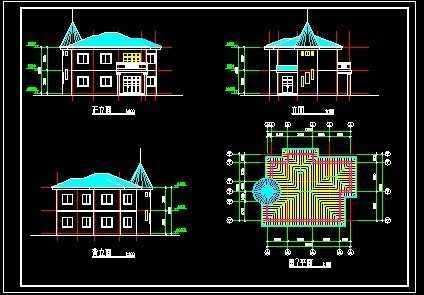 别墅平立面设计图