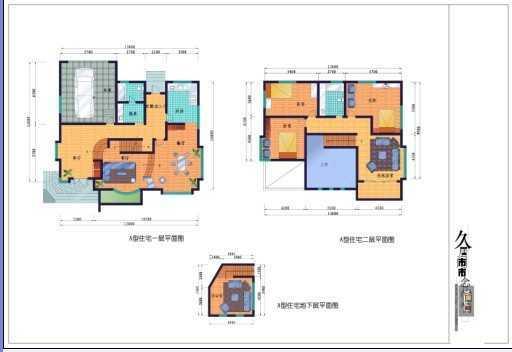 别墅a,b型住宅平面图设计免费下载 - 别墅图纸 - 土木