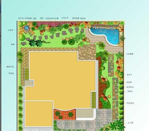 庭院秋千设计图图片