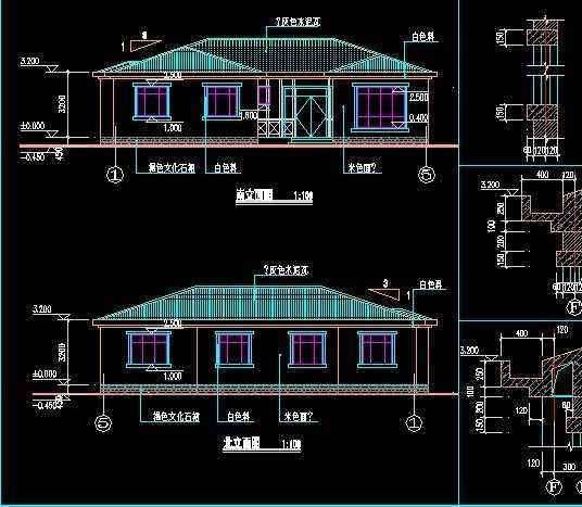 农村单层别墅建筑图免费下载 - 别墅图纸 - 土木工程网