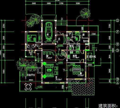 cad别墅设计图