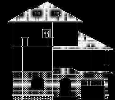 农村别墅立面设计图免费下载 - 别墅图纸 - 土木工程网