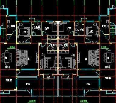 退台式洋房建筑图纸图片