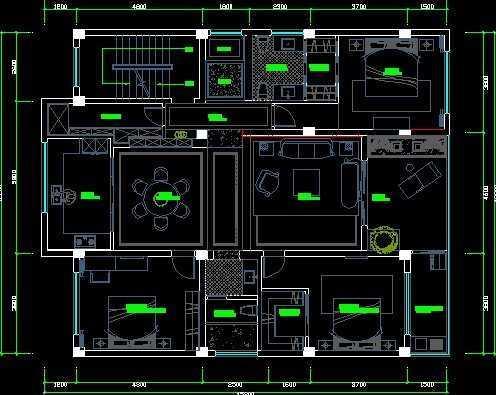 套房设计施工图纸免费下载 - 别墅图纸