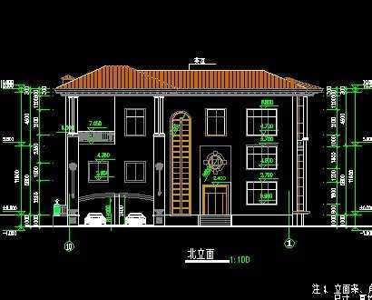 两层别墅施工图免费下载 - 别墅图纸 - 土木工程网