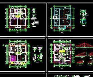 某砖混结构别墅建筑施工图免费下载 别墅图纸