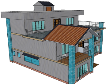 现代农村小别墅设计图免费下载 - 别墅图纸 - 土木