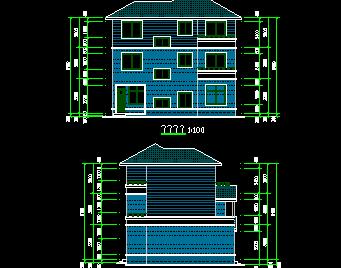 某农村住宅外观视图免费下载 - 别墅图纸 - 土木工程网