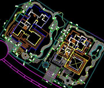 别墅园林铺装设计图免费下载 - 道路地面铺装 - 土木