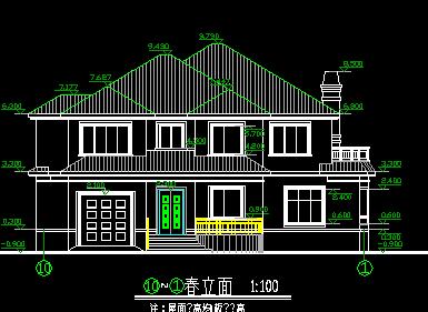 282平方米二层独栋别墅设计图
