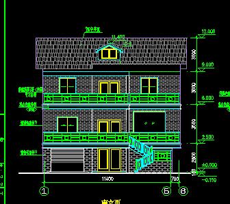 120平米三层别墅设计图